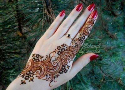 Simple Mehndi Designs Pics for Hands