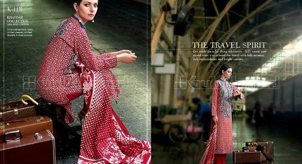 Gul Ahmed Khaddar Winter Collection for Women 2014-15