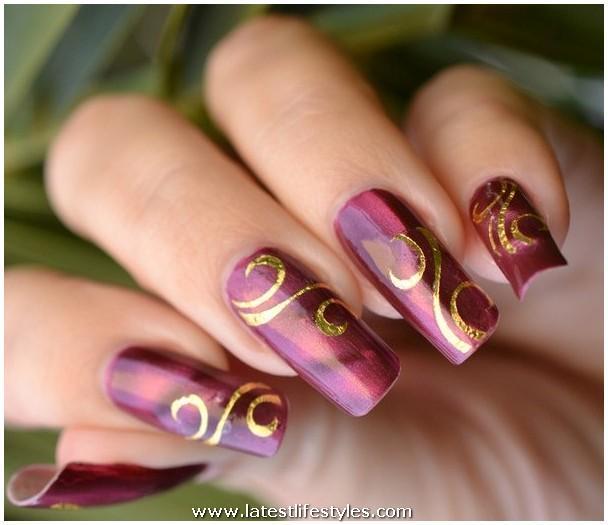 Latest Nail Designs: Bridal Nail Art Acrylic Designs